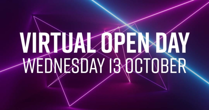 October Virtual Open Event promotion